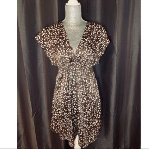 Satin Floral Print Dress